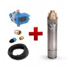Погружной насос WOMAR 4SKM-100 (0,75 кВт) и фурнитура