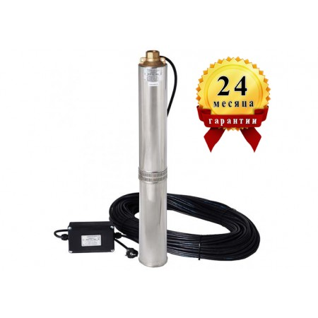 Погружной центробежный многоступенчатый насос для воды Водолей БЦПЭ 0,5-100У* каб 80м