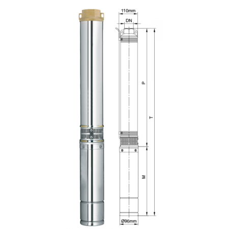 Погружной центробежный многоступенчатый насос для воды Aquatica DONGYIN 4SEm2/7