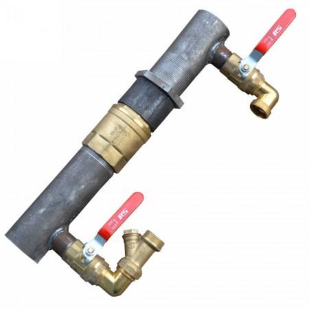 """Байпас для отопления 2 """" с клапаном (короткий)"""