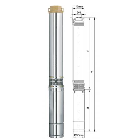 Погружной центробежный многоступенчатый насос для воды Aquatica DONGYIN 4SEm2/8