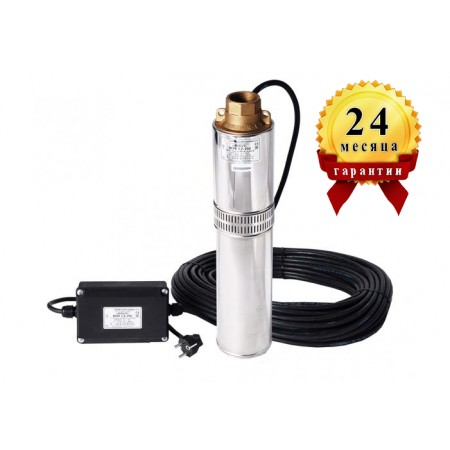 Погружной центробежный многоступенчатый насос для воды Водолей БЦПЭ 0,5-40 каб. 25м