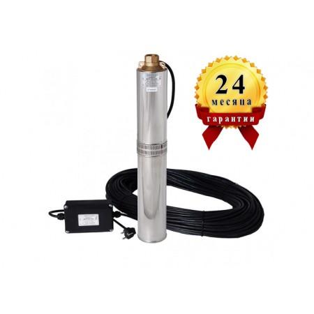 Погружной центробежный многоступенчатый насос для воды Водолей БЦПЭ 0,5-63 каб. 40м