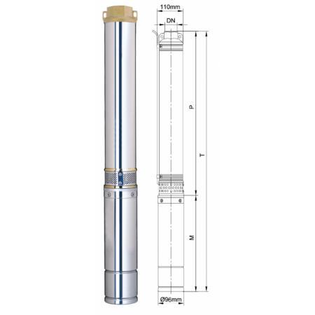 Погружной центробежный многоступенчатый насос для воды Aquatica DONGYIN 4SDm4/14